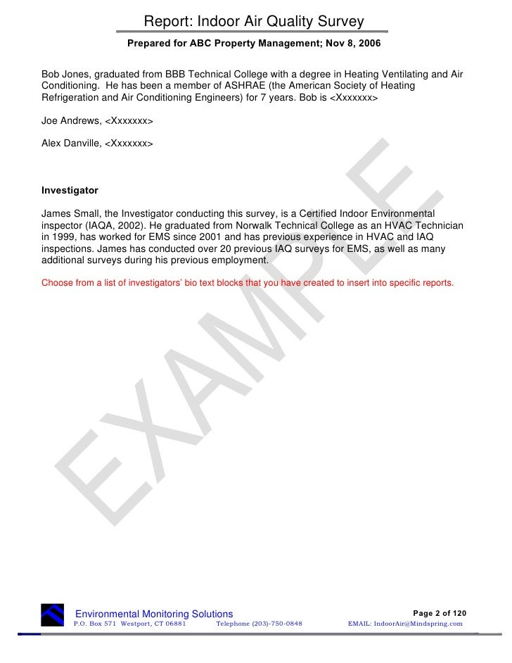 Heating and Air Conditioning (HVAC) academic paper format