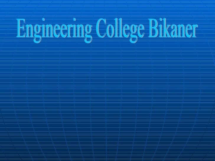Engineering College Bikaner