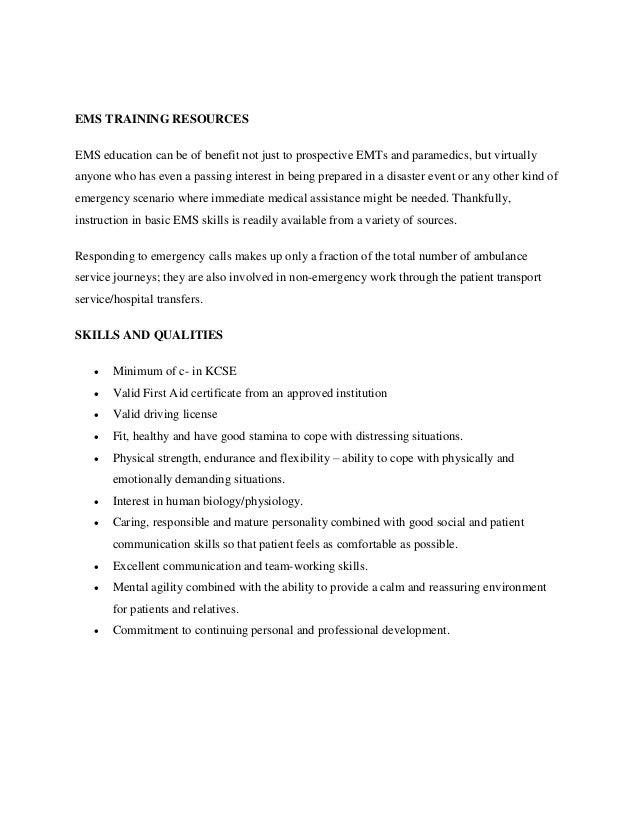 Emt And Paramedic Training