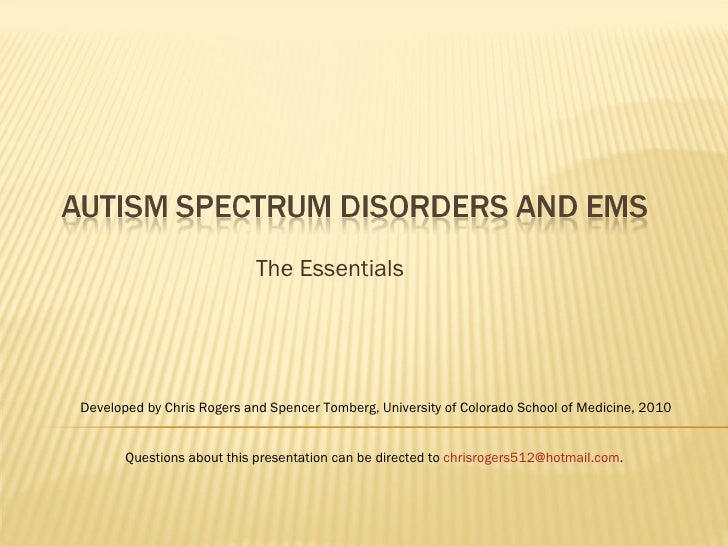 Autism and EMS - The Essentials