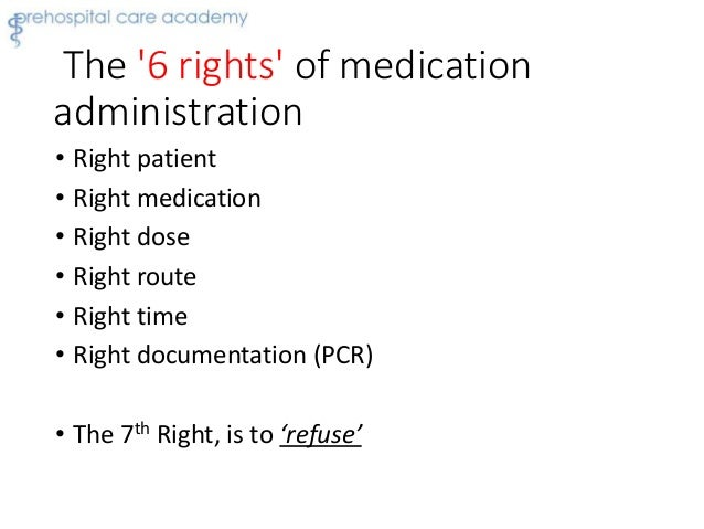 rights of medication administration essay In their role of medication administration pharmacology knowledge allows  the five rights of medication administration to  a custom essay.