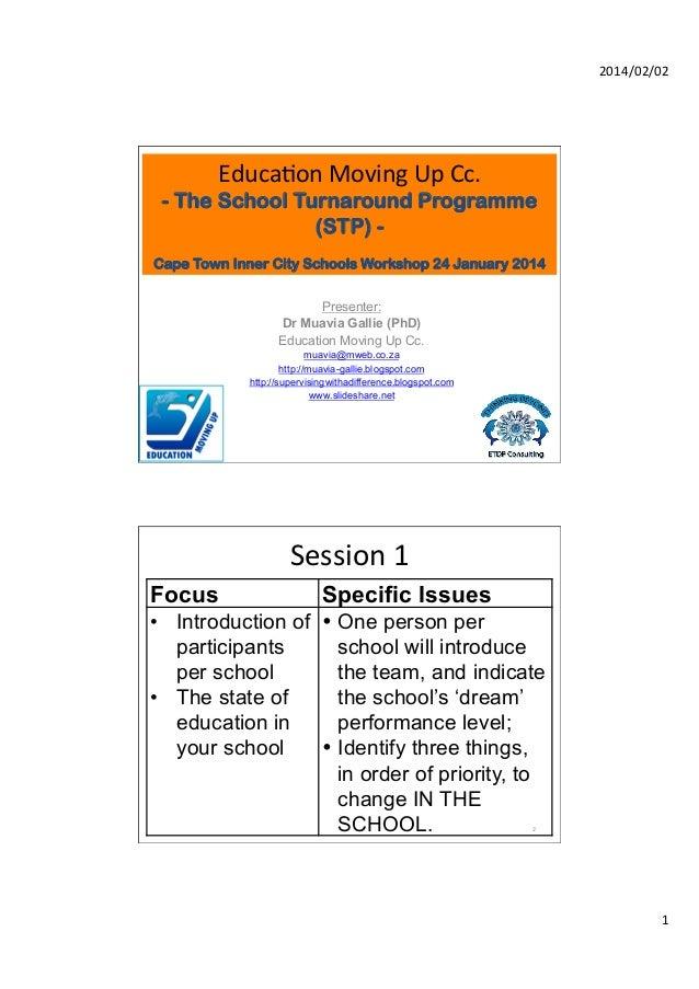 EMU Cape Town Inner City Schools' workshop