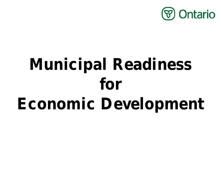 Municipal Readiness         forEconomic Development
