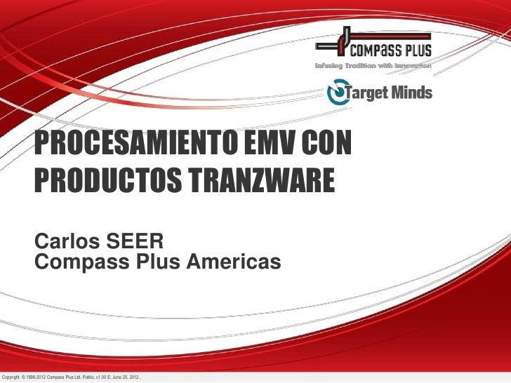 PROCESAMIENTO EMV CON                PRODUCTOS TRANZWARE                Carlos SEER                Compass Plus AmericasCo...