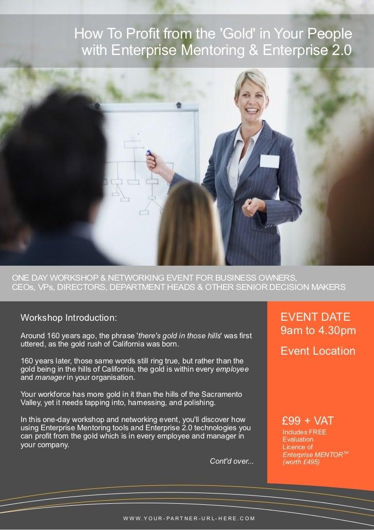 Enterprise MENTOR Workshop Brochure