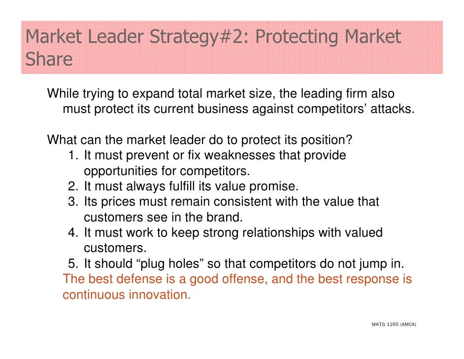 Market Leadership Strategies – Explained!