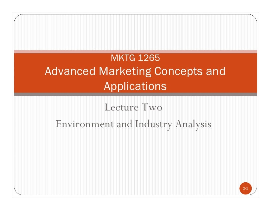 AMCA Lecture Two  Environment And Industry Analysis