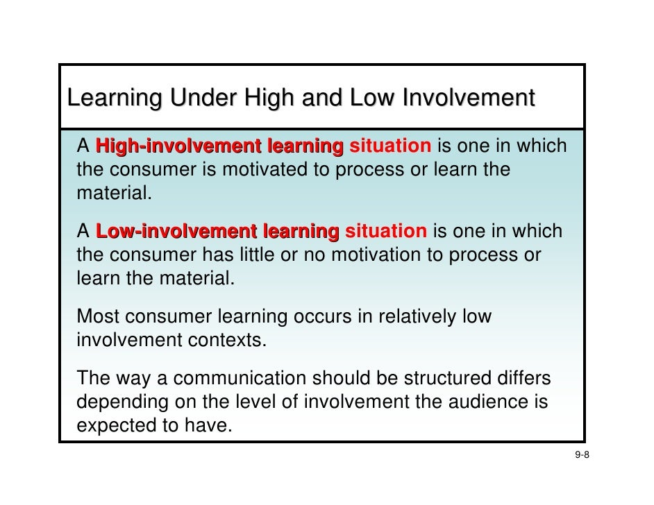 External influences on high involvement decisions