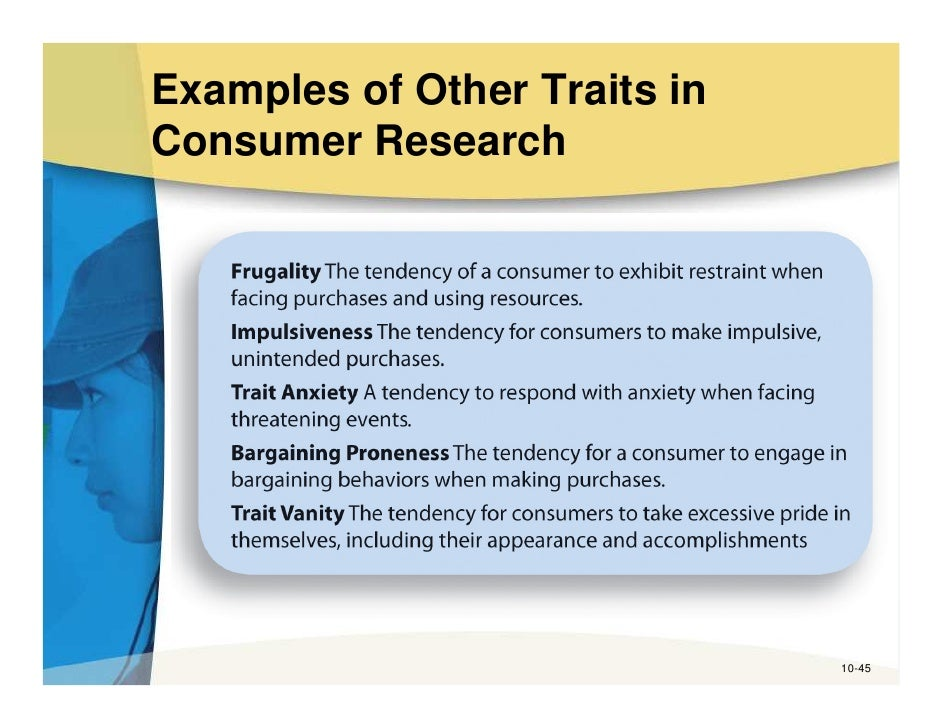 thesis statement for consumer traits and behaviors Effect of brand image on consumer purchase behaviour: international footwear market comparison approaches of consumer behaviour are of consumer behavior.