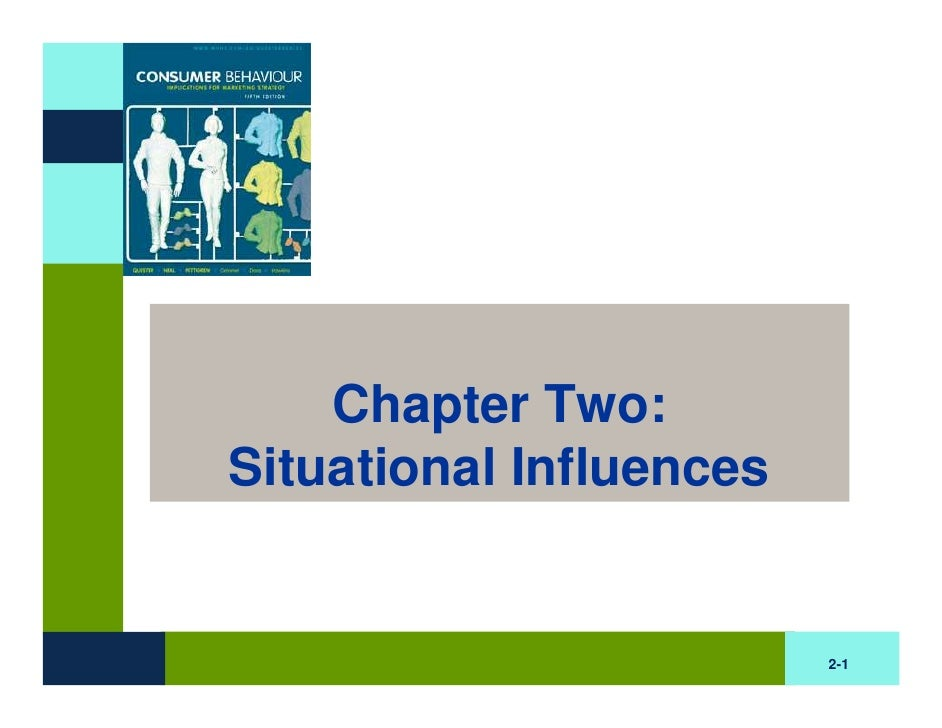 Chapter Two: Situational Influences                            2-1