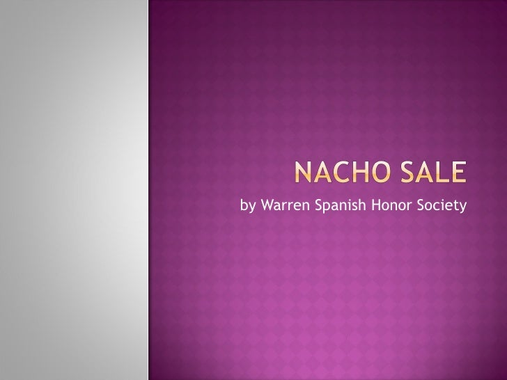 Nacho Sale 9-22-09