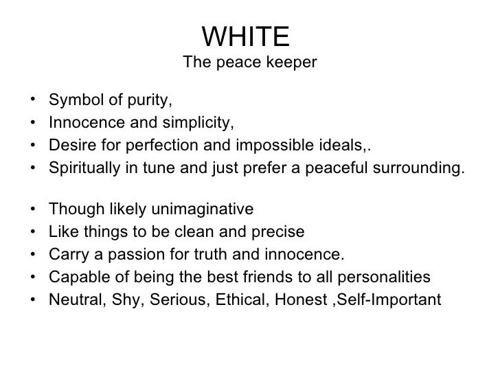 essay on favourite color white