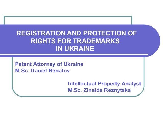 TM registration aspects in Ukraine