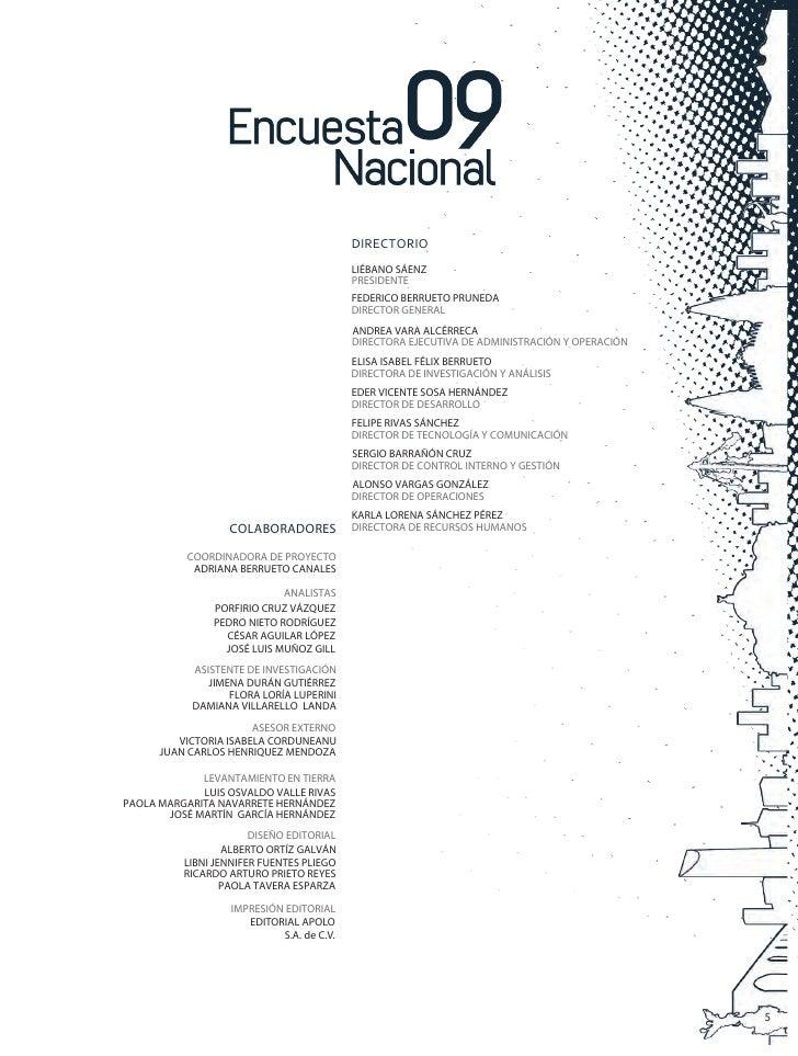 Encuesta Nacional 09 Primer Semestr