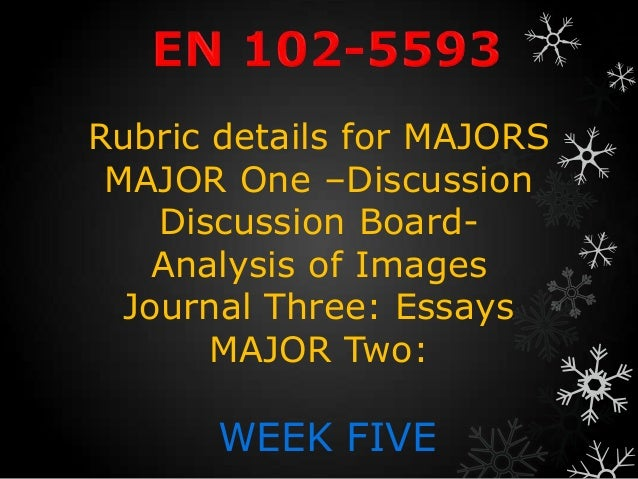 Rubric details for MAJORS MAJOR One –Discussion    Discussion Board-    Analysis of Images  Journal Three: Essays       MA...