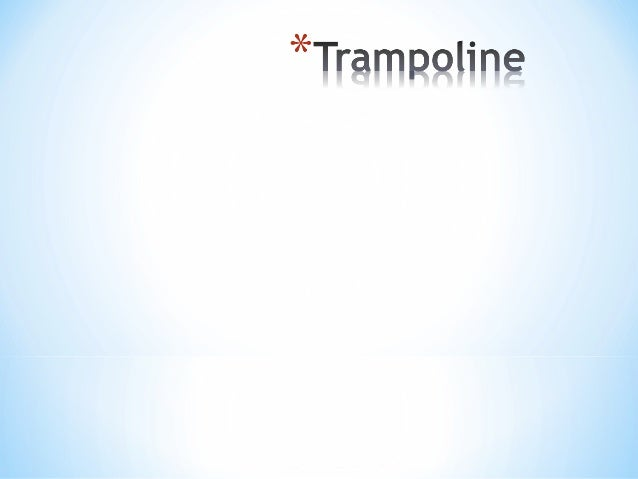 Trampoline (and individual and synchronous) is a sport created for the elite.It is a sport that gives the freedom of fligh...
