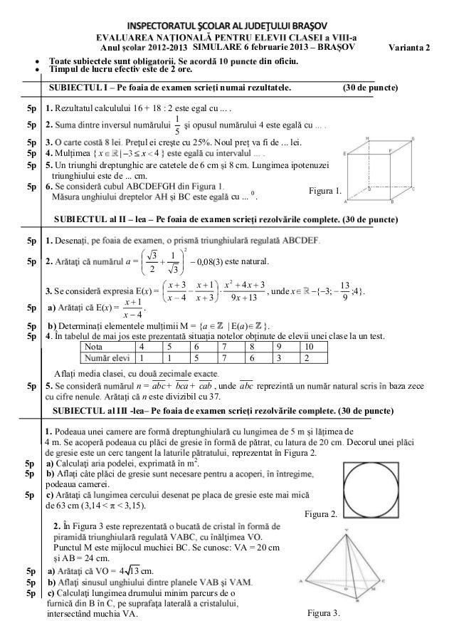 En2013 simulare en matematica brasov 2013