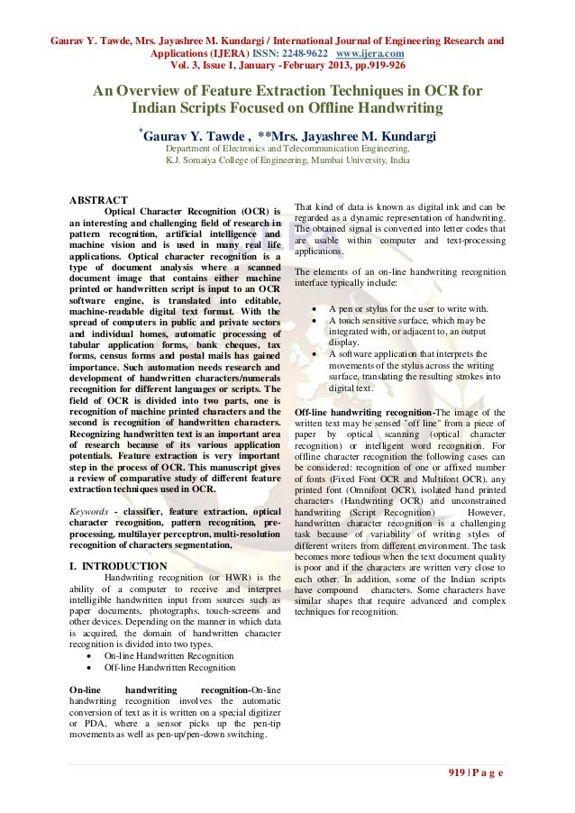 Gaurav Y. Tawde, Mrs. Jayashree M. Kundargi / International Journal of Engineering Research and                   Applicat...