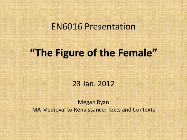 The Figure of the Female