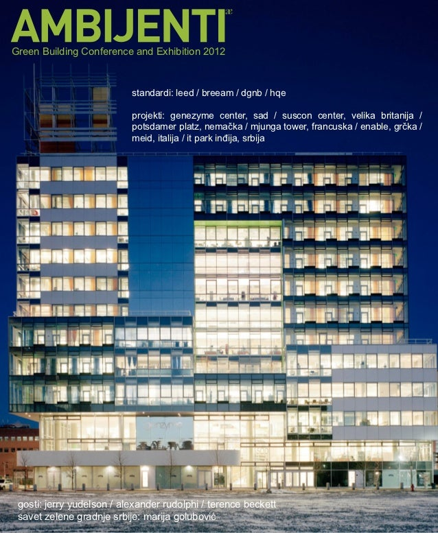 Green Building Conference and Exhibition 2012                           standardi: leed / breeam / dgnb / hqe          ...