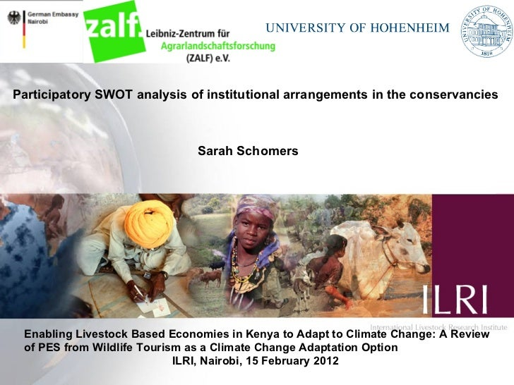 Participatory SWOT analysis of institutional arrangements in the conservancies