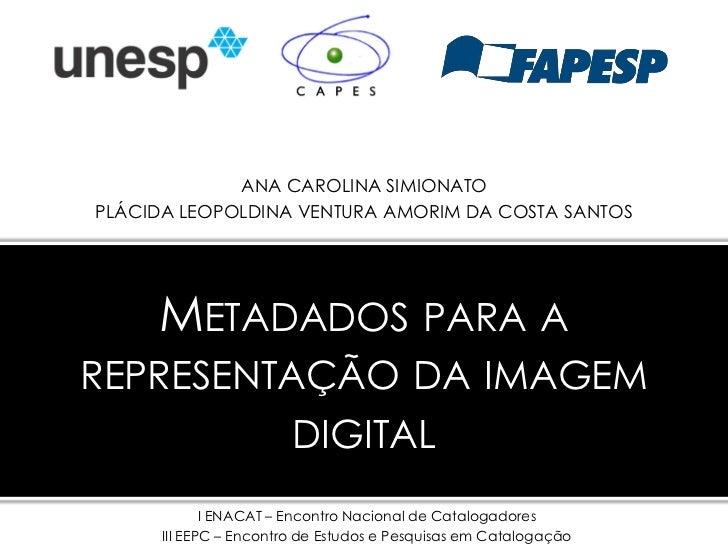 Metadados para a representação da imagem digital