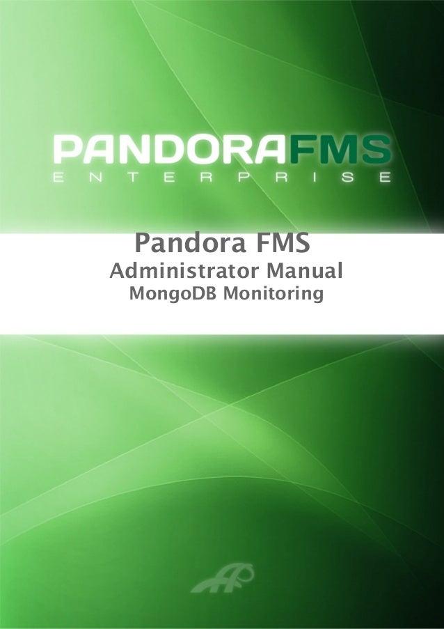 Pandora FMS Administrator Manual MongoDB Monitoring