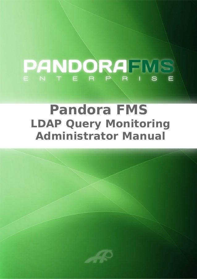Pandora FMS LDAP Query Monitoring Administrator Manual