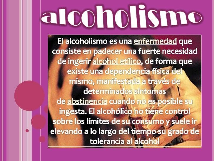 La dependencia alcohólica o el alcoholismo crónico