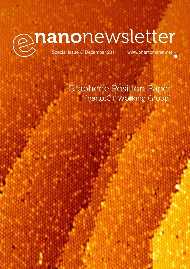 Graphene Position Paper (E-Nano Newsletter Special Issue)