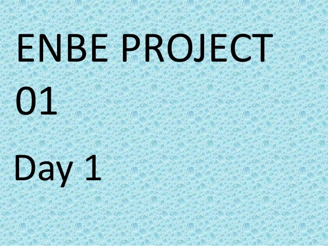 ENBE PROJECT01Day 1
