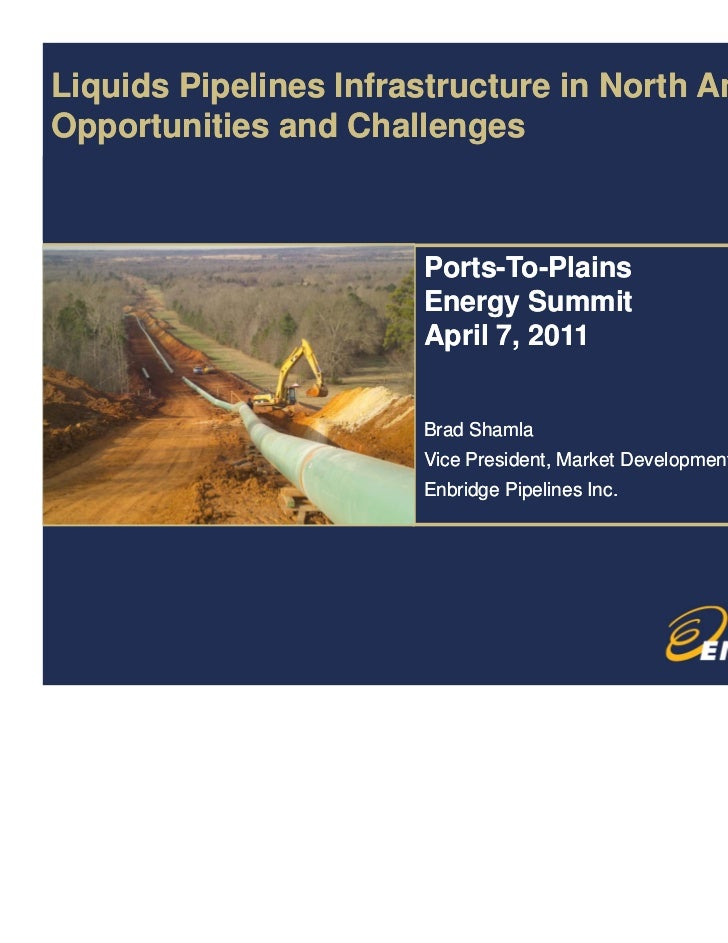 Liquids Pipelines Infrastructure in North America Opportunities and Challenges