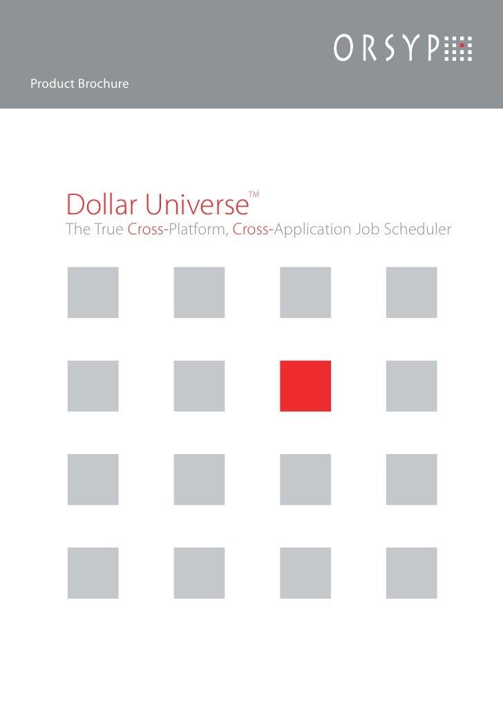 Brochure di Dollar Universe