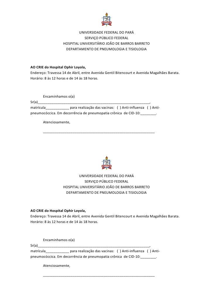 UNIVERSIDADE FEDERAL DO PARÁ                              SERVIÇO PÚBLICO FEDERAL                   HOSPITAL UNIVERSITÁRIO...