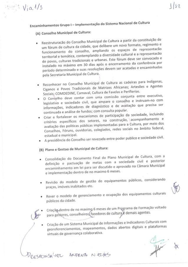 Encaminhamentos do grupos da II CMC Rio