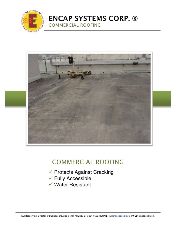!                              ENCAP SYSTEMS CORP. ®                             COMMERCIAL ROOFING                       ...