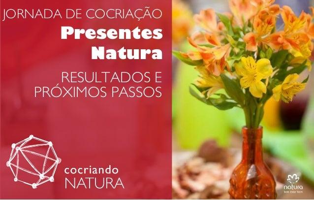 JORNADA DE COCRIAÇÃO  Presentes Natura RESULTADOS E PRÓXIMOS PASSOS