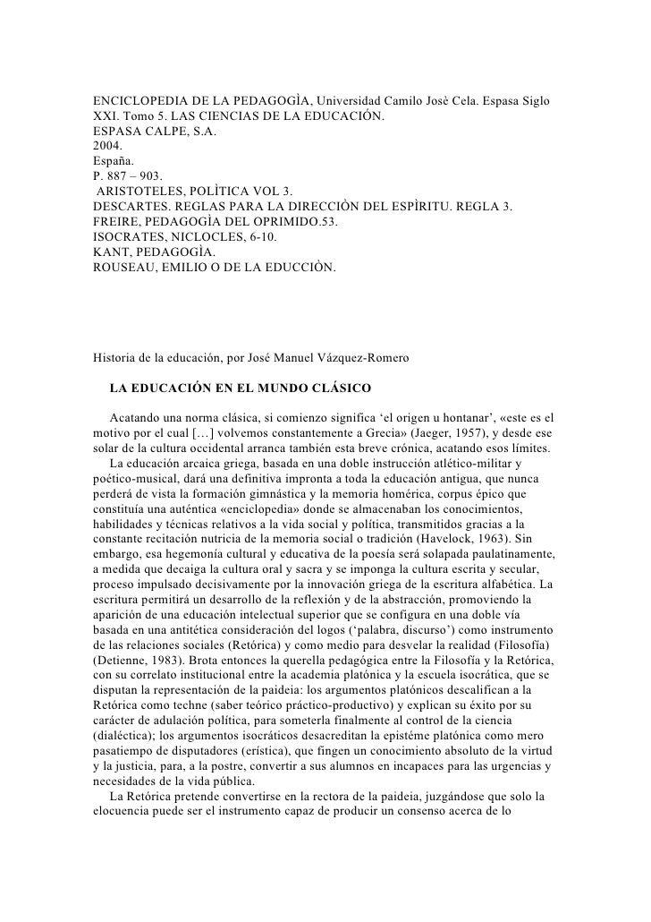 Enciclopedia De La PedagogìA Kem
