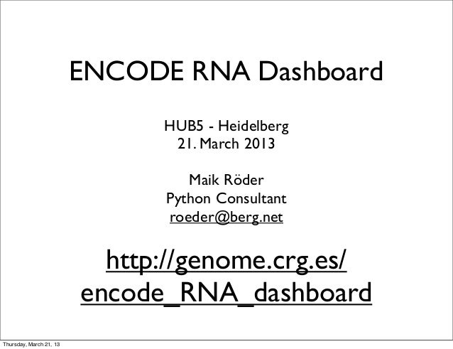 Encode RNA Dashboard