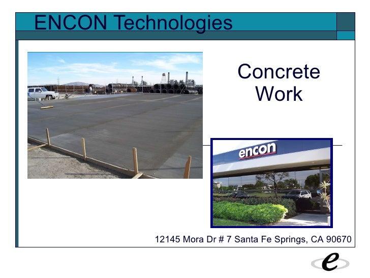 Encon - Concrete Work