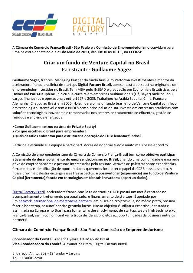 performa of resume venture capital no brasil