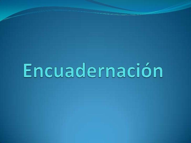 Encuadernación<br />