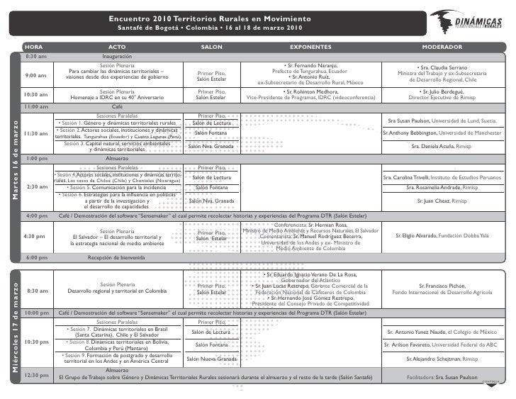 Capital Natural,  Servicios Ecosistémicos y DTR Programa Dinámicas Territoriales Rurales Daniela Acuña Reyes Bogotá, Colom...