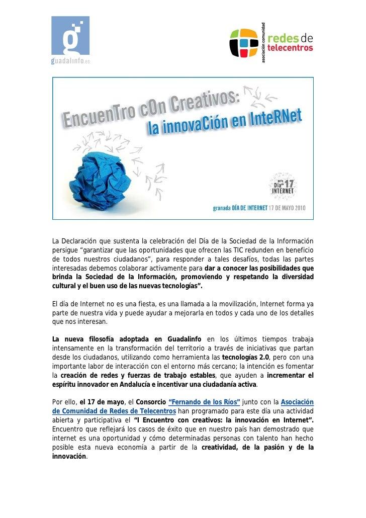I Encuentro con creativos: La innovación en Internet