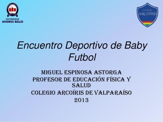 Encuentro deportivo baby futbol plantilla