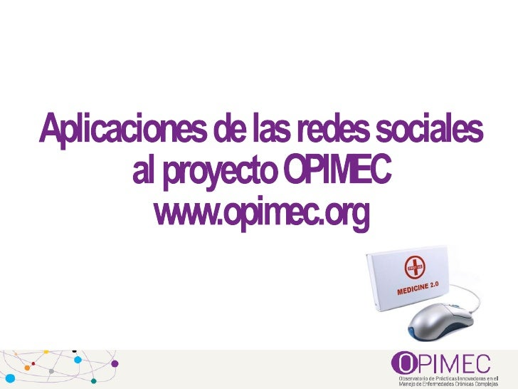 I Encuentro de Estadísticos Biosanitarios Andaluces: presentación OPIMEC