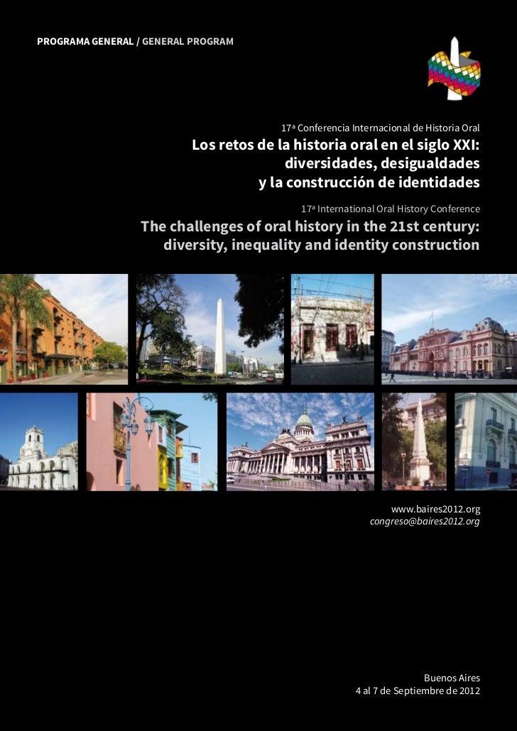 PROGRAMA GENERAL / GENERAL PROGRAM                                                                              17ª Confer...