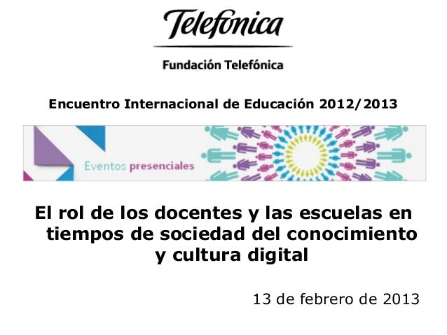 Conclusiones Buenos Aires: Tema 5 Encuentro Internacional de Educación 2012/2013