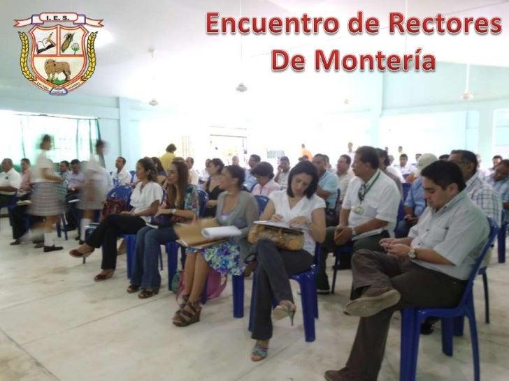 Encuentro de Rectores de Montería