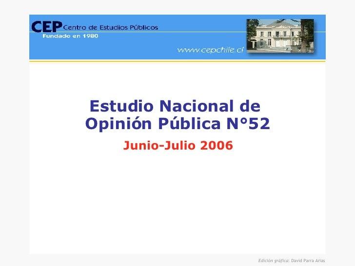 Estudio Nacional de  Opinión Pública N°52 Junio-Julio 2006
